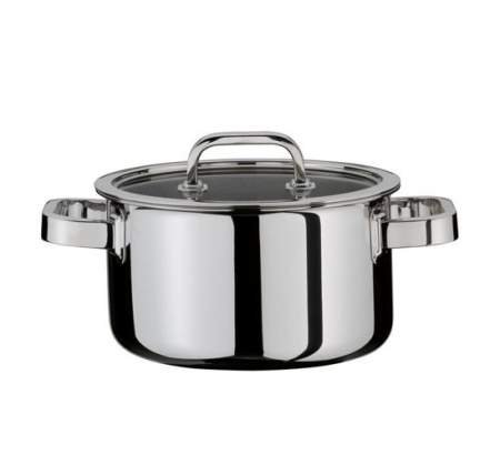 Deep casserole with lid 16 cm - Finesse -  Spring