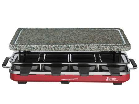 Raclette 8 red with granite - SPRING