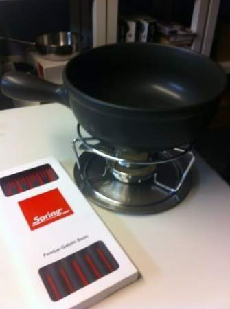 ceramic fondue pot (2 l.) - SPRING