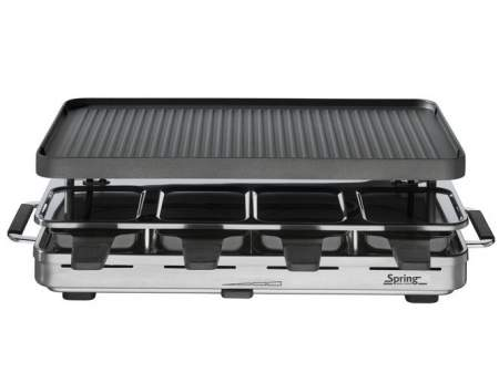 grill Raclette 8 INOX with alu plate - SPRING