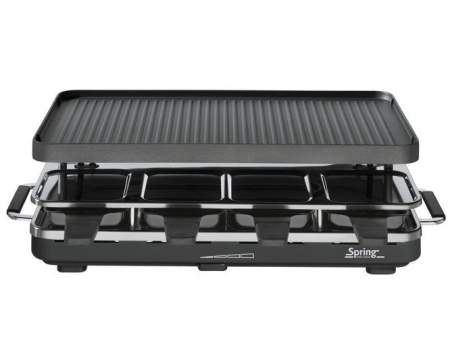 grill Raclette 8 black with alu plate - SPRING